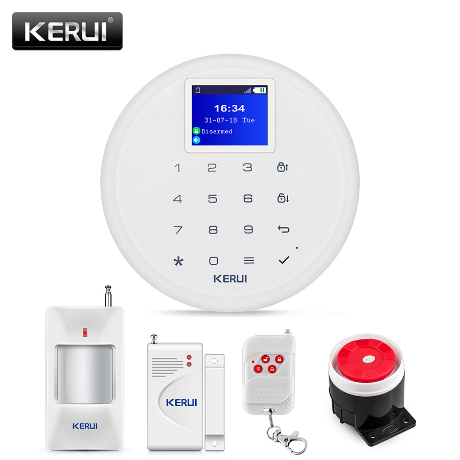 KERUI 433MHZ Wireless Burglar Smart GSM Home Security Alarm System Multi-language Scheduled Disarm Arm Low Battery Reminder