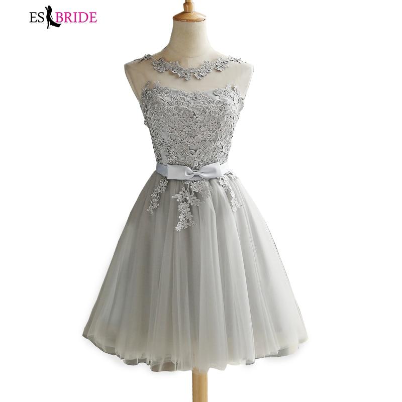 Lace Evening Dresses Short Formal Evening Dress Party Prom Dress Elegant Robe De Soiree 2019 New Evening Gown Plus Size ES1113