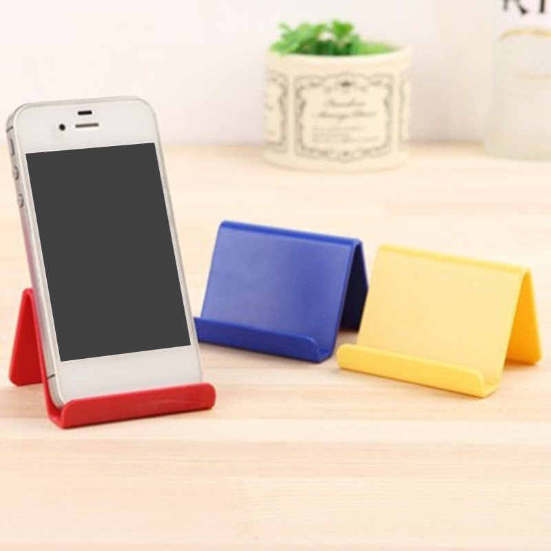 Mini Portable Phone Holder Flat Hard Board Phone Bracket Simple Fashion Solid Color Phone Stand Smart Phone Accessories