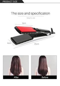 Image 5 - Professional Hair Straightener High Temperature Wide Plates Keratin Straightening Irons Styling Tool Titanium Flat Iron LED Dis