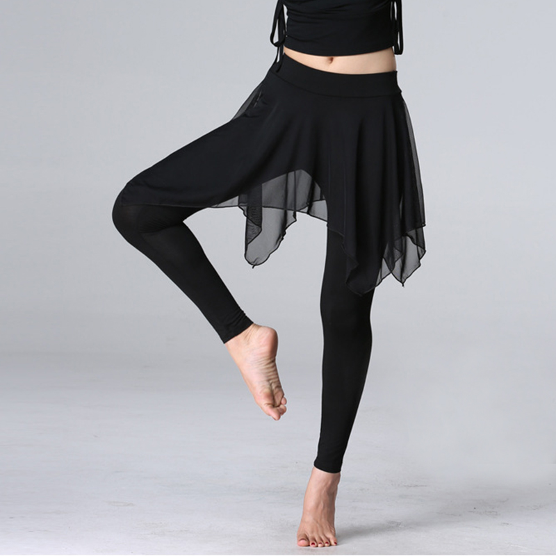 Latin Dance Pant Skirt Modal Training Pant Dress Performance Wear Irregular Latin Dance Trousers For Women