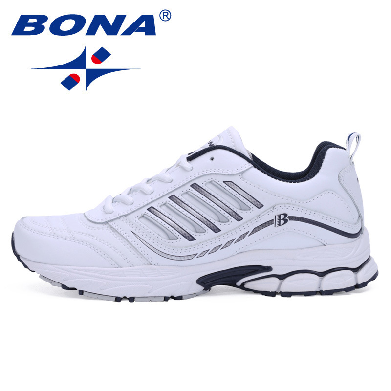 BONA Brand Man Running Shoes For Men Lace Up Outdoor Walking Sneakers Comfortable Shoes Trianers Nice Trends Athletic Trainers