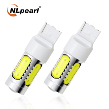 NLpearl 2x Signal Lamp 12V COB T20 Led Bulb 7440 LED W21W Turn Signal Light T20 W21 5W 7443 WY21W Auto Reverse Tail Brake Lights 2pcs t20 7443 amber led car led bulb t20 7440 auto drl 18 smd stop reverse brake light strobe light 12v cj