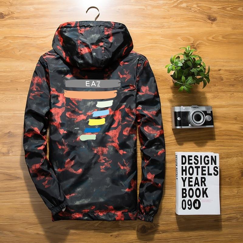 New 2020 Autumn Black Jacket Men Thin Jackets Men Casual Lover Jacket Hip Hop Windbreaker Hooded Jacket Coat Zipper Parka Men