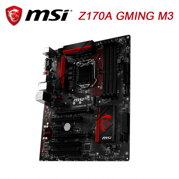 MSI Z170A GAMING M3 Desktop Motherboard Z170 Socket LGA 1151 For Core i7 i5 i3 DDR4 64G USB3.0 M.2 ATX Original Used Mainboard for asus b250 mining expert original used desktop intel b250 b250m ddr4 motherboard lga 1151 i7 i5 i3 usb3 0 sata3