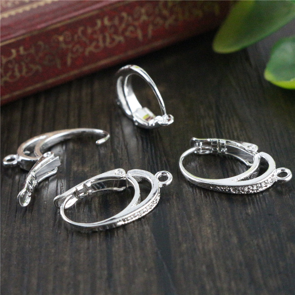 6pcs ( 3pair) 20x11mm Bright Silver Plated Ear Hooks Earring Wires For Handmade Women Fashion Jewelry Earrings (T6-03)