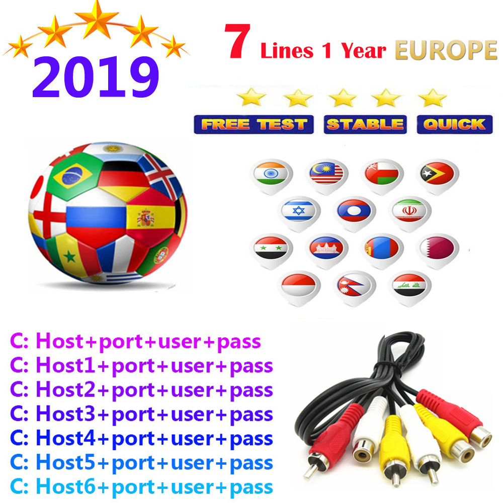 Newest Europe 2019 spain most stable cccams Satellite tv Receiver WIFI FULL HD DVB-S2 Support Ccams image