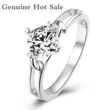 Обручальное кольцо с круглым муассанитом 65 мм 1 карат