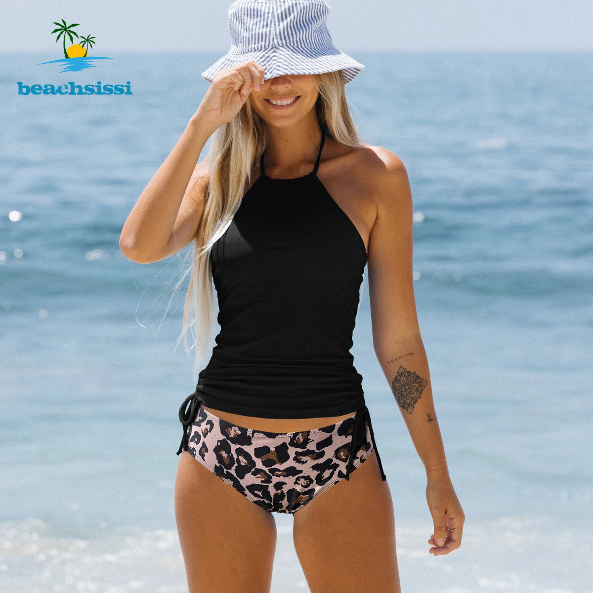 Beachsissi Women's Halter Bikini  Bathing Swimwear 4