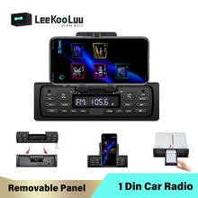 LeeKooLuu 1 Din Autoradio amovible Autoradio FM Bluetooth Aux USB in-dash Central 1Din voiture MP3 lecteur multimédia