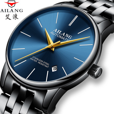AILANG 2019 Top Luxury Automatic Mechanical watches  ultra-thin New Fashion Simple Men's Watches Sapphire Waterproof Men Watches