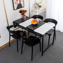 Kitchen Furniture Dining-Table-Set Folding Home Bookshelf Turns Into