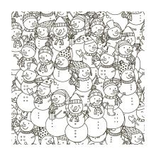 AZSG Winter Snowman Background Clear Stamps For DIY Scrapbooking/Card Making/Album Decorative Silicone Stamp Crafts