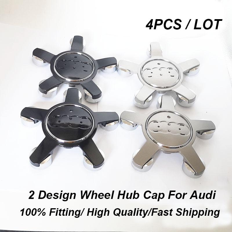 4pcs/set 60mm 69mm 135mm Auto Wheel Center Center Caps Car Wheel Hub Emblem Cover For  A1 A2 A3 A4 A5 A6 A7 A8 Q1 Q3 Q5 Q7 TT R8