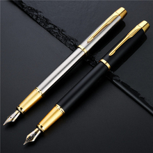 1 ud. Pluma estilográfica de lujo de Metal de alta calidad, bolígrafos de caligrafía para firma de negocios, suministros de papelería para oficina y Escuela 03923