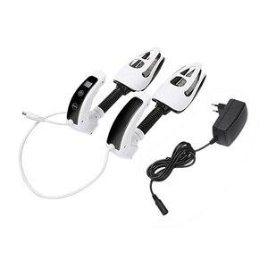 Secador de zapatos eléctrico de 110-240V, desodorante, esterilización UV, prensa y deslizamiento, temporizador de pantalla LED de ozono (Enchufe europeo)