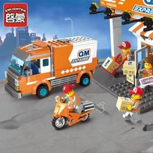 Enlighten Building Block City Cars Express Car 337pcs Educational Bricks Toy Boy Gift Legoingly 1119