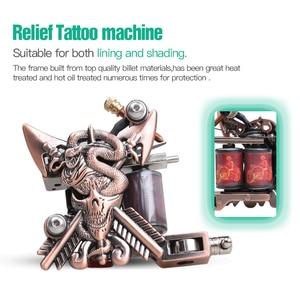 Image 2 - Beginner Complete Tattoo Kit Supplies 2 Machine Guns Power supply Needles Grip Tip Set HW 10GD