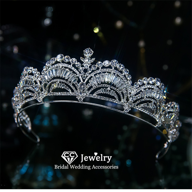 CC Wedding Crown Women Hair Accessories Bridal Tiaras and Crowns Engagement Jewelry Romantic Hairbands Princess Headdress QS01