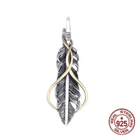 S925 sterling silver pendant jewelry personality retro Indian style feather flying eagle couple shape to send a gift of love hot