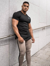 2021 New Summer Fashion Sports Men's T-Shirt Quick-Drying Breathable Short-Sleeved Casual Jogging Outdoor Fitness Clothes