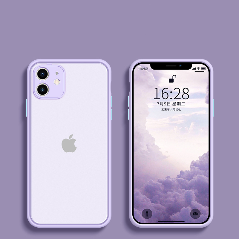 Shockproof Phone Case Back Cover For iPhone 11 Pro Max X XS Max XR SE 2020 Luxury Translucent Case For iPhone 8 7 6 6s Plus Case