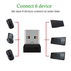 Image 3 - אלחוטי Dongle מקלט מאחד USB מתאם עבור עכבר מקלדת להתחבר 6 מכשיר עבור MX M905 M950 M505 M510 M525 וכו