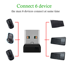 Image 3 - Wireless Dongle Receiver Unifying USB Adapter for Mouse Keyboard Connect 6 Device for MX M905 M950 M505 M510 M525 Etc