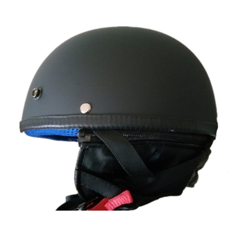 DOT Motorcycle German Style Half Face Helmet Motocross Chopper Cruiser Biker M