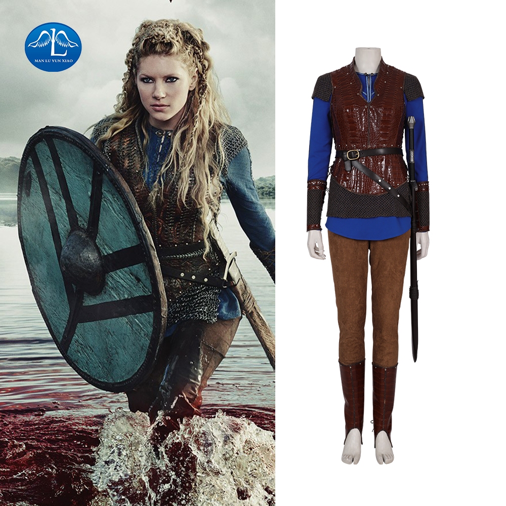 Vikings Season 3 Lagertha Cosplay Katheryn Winnick Christmas Halloween Costume High Reduction Custome Made Costume For Women Kid