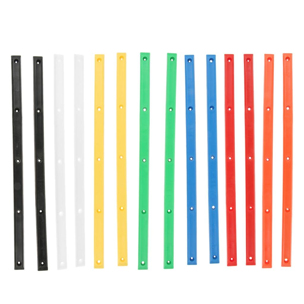 2pcs 36cm Longboard Skateboard Rails Anticollision Rib Strip With Mount Screws Outdoor Gear Accessories Multi Colors