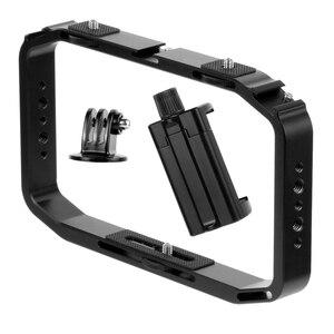Image 3 - BGNing DSLR Video Rig Cage Handheld Smartphone Vlog Stabilizer Camera Cage for Gopro 8 7 6 for XiaoYI EKEN Sport Camera