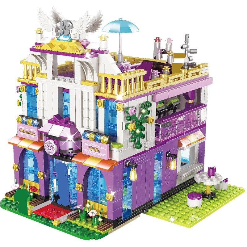 Новые совместимые строительные блоки lepining Friends замок Частная роскошная вилла кирпичная девушка дом принцессы игрушки подарки на Рождество