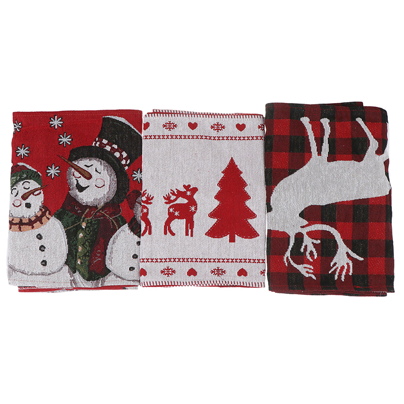 Cotton Embroidered Christmas Table Runners 180 35cm Deer Christmas Tree Table Runner Cloth Cover for Home New Year Decoration in Pendant Drop Ornaments from Home Garden