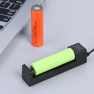Image 3 - One slot 18650 Li ion Battery Charging Charger DC4.2V Portable Rechargeable USB Lithium Battery Charger