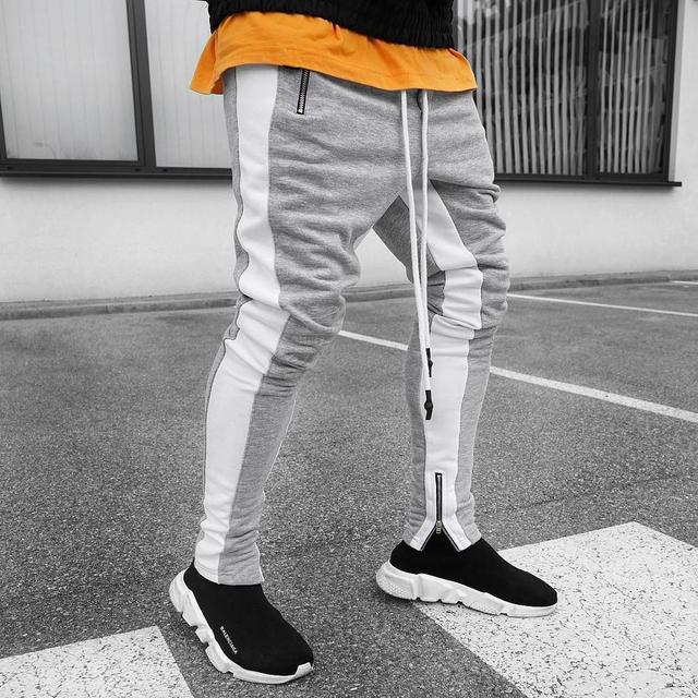 Mens Joggers Casual Pants Fitness Men Sportswear Tracksuit Bottoms Skinny Sweatpants Trousers A-S