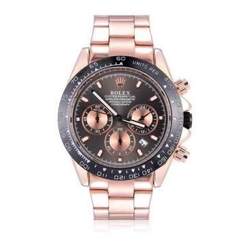 Brand Fashion Classic Quartz Mens Watch 2020 Chronograph Rubber Belt Date Wristwatch Rose Gold Metal Watch Men 6356