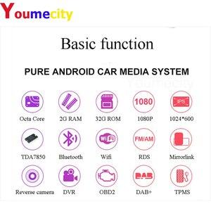 """Image 2 - Ośmiordzeniowe/10.1 """"Android 9.0 samochodowe Multimedia odtwarzacz wideo Dvd z kranu Tablet nawigacja GPS Radio Stereo Bluetooth Wifi uniwersalny"""