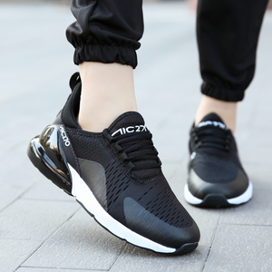 Men's Sneakers Big Size Air Mesh Light Running Shoes Breathable Lace Up Couple Cushion Flats Non-slip Walk Sports Training Shoes