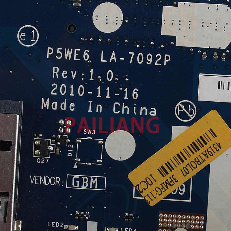 PAILIANG האם מחשב נייד עבור ACER Aspire 5253 מחשב Mainboard P5WE6 LA-7092P MBNCV02002 tesed DDR3