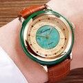 Зеленый Jadeiteer jades камень мужские подлинные часы Коллекция Часы здоровье водонепроницаемый 12 Зодиак настоящий кожаный ремень