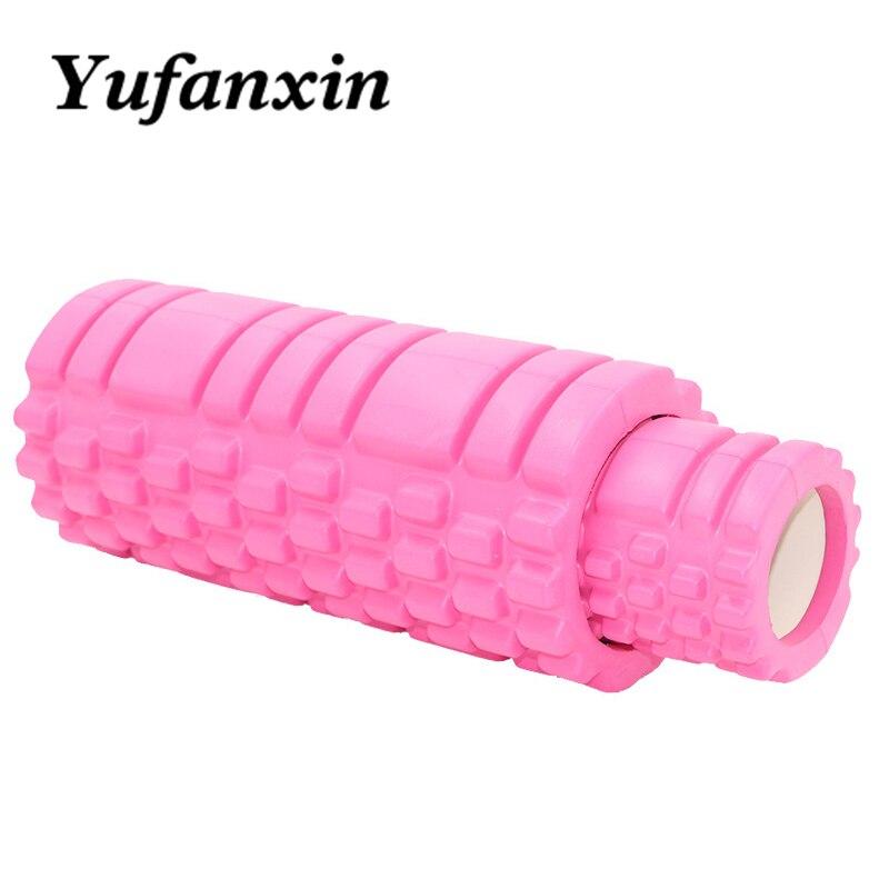 Rolo de Espuma Yoga Coluna Bloco Pilates Fitness Trem Ginásio Massagem Grade Gatilho Ponto Terapia Exercício Fisio Esporte Ferramenta