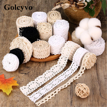 1Meter Cotton Hollow Lace Trims Edge Fabric Colthing Skirt DIY Sewing Crafts Charms