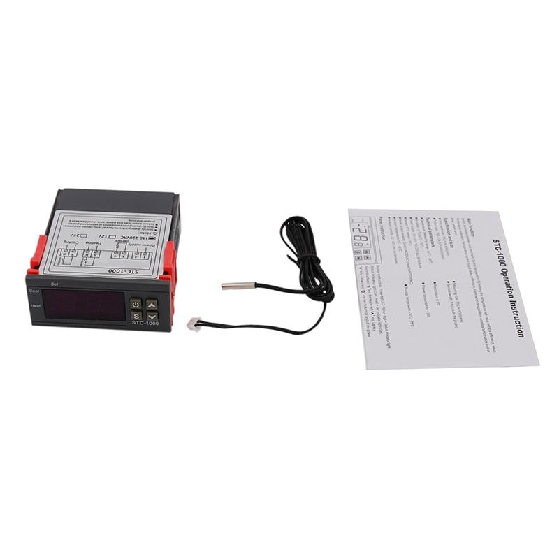الرقمية متحكم في درجة الحرارة STC-1000 110-220 فولت/التيار المتناوب ث/NTC الاستشعار ترموستات وسخان برودة التحكم الكهربائية مصنع الجعة