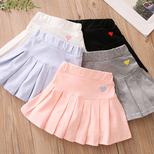 2021 Summer Fashion 3 4 6 8 9 10 12 Years Cotton School Children Clothing Dance Training For Lovey Baby Girls Skirt With Shorts