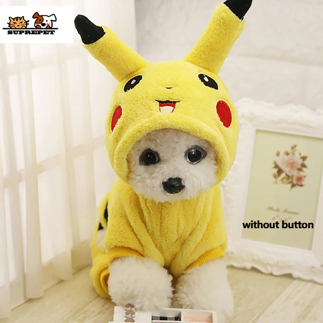 Cat Costume Cute Pet Clothes Pikachu Cosplay Clothes Autumn Winter  Cat clothes Home Pajamas Puppy Hoodie Dog Coat