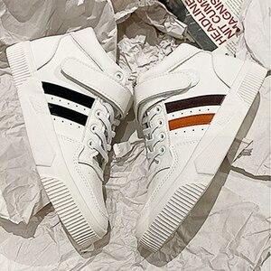 Image 2 - Soprts baskets confortables, antidérapantes, chaussures montantes à lettres Motion, chaussures vulcanisées pour femmes, nouvelle collection printemps 2020