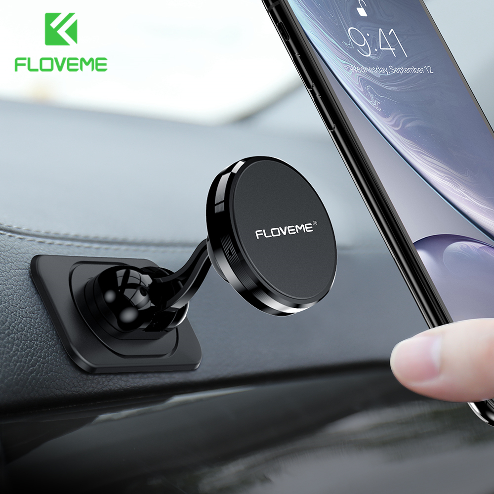 FLOVEME Universal Magnetic Car Phone Holder Stand In Car For IPhone 11 XR 7 Xiaomi Magnet Phone Car Holder Mobile Phone Support