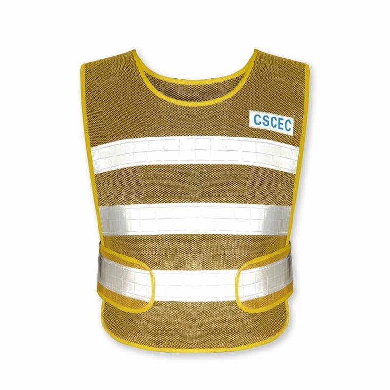 Safety Reflective Vest Customizable Size Traffic Safety Protection Waterproof Breathable Fabric Velcro Design Reflective Vest