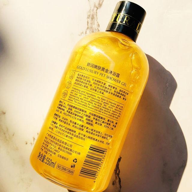 Senana 24K Gold Shower Gel Deep Clean Long Lasting Fragrance Bath Foam Foam Bath Liquid Body Wash Shampoo Moisture Skin Clean 2